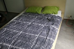 Myydään: IKEA bed, mattress, blanket and pillows