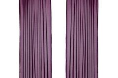 Myydään: Curtains (white, purple, brown)