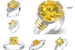Wholesale Lots: 192 New Yellow Cubic Zirconia Fashion Rings - MSRP $2,099