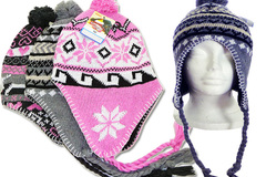 Wholesale Lots: 72 Braided Aviator Beanie Winter Hats $1.52 Each!