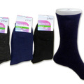 Wholesale Lots: 144 PAIRS MENS COTTON BLEND DRESS SOCKS ASSORTED ($0.76 EACH