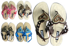 Wholesale Lots: 48 Pairs Women's Flat Thong Strap Sandals $2.08/Pair! #188