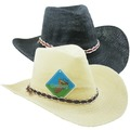 Wholesale Lots: 48 Straw Cowboy Hat with Trim