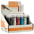 Wholesale Lots: 72 Screwdriver Kit 8 in 1 Mini Tool with Display Box