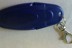 Wholesale Lots: TSA APPROVED USB ELECTRIC WINDPROOF BLUE KEYCHAIN LIGHTER