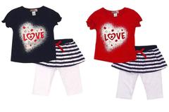 Wholesale Lots: 48 STYLISH  INFANT  2PC CAPRI GIRLS SET- (2931/2930)