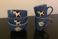 Myydään: Bowl and mug set