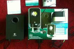Myydään: Logitech LS21 2.1 speakers with orig. box